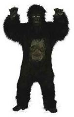 Deluxe Fur Gorilla Costume with Rubber Chest